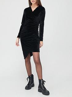 hugo-wrap-smart-dress-black
