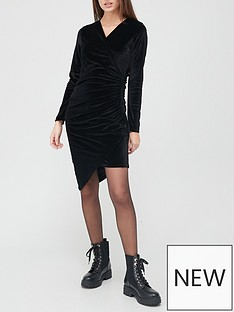 hugo-wrap-smart-dress-black