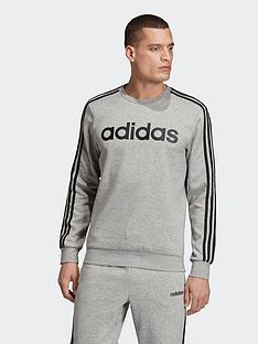 adidas-adidas-plus-size-essential-3-stripe-crew-sweat