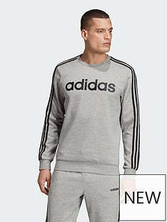 adidas-adidas-plus-size-essential-3-stripe-crew-sweat