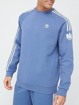 adidas-originals-3d-trefoil-stripe-crew-sweatshirt-blue
