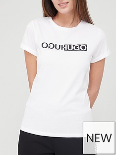 hugo-slim-logo-t-shirt-whitenbsp