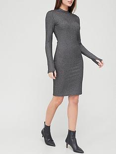 hugo-rib-knitted-dress-blacknbsp