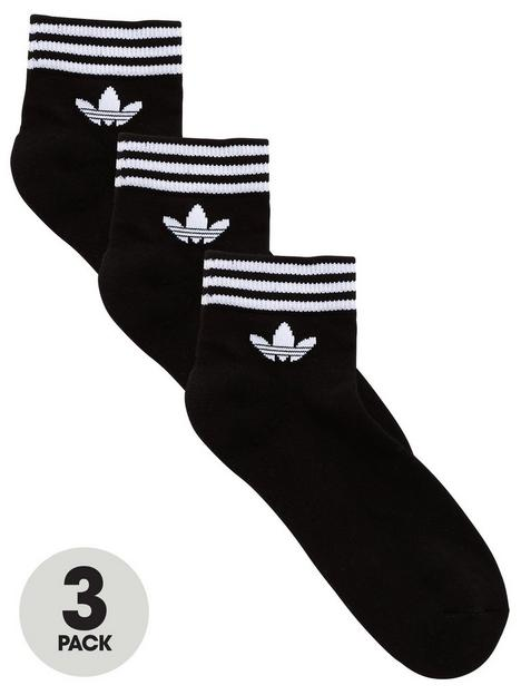 adidas-originals-3-pack-ofnbsptrefoil-ankle-socks-black