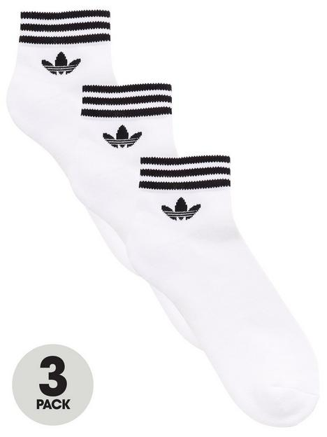 adidas-originals-3-pack-ofnbsptrefoil-ankle-socks-white