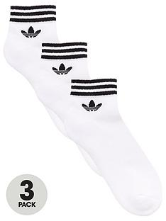 adidas-originals-3-pack-ofnbsptrefoil-ankle-socks-white