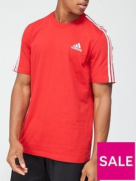adidas-3-stripe-t-shirt-red