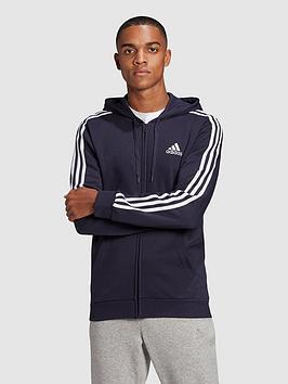 adidas-3-stripe-fleece-full-zip-hoody
