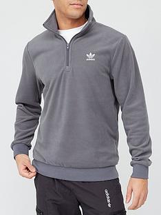 adidas-originals-essential-half-zip-sweat-top-grey