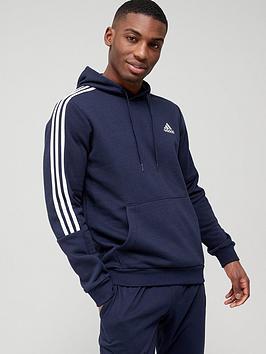 adidas-cut-3-stripe-hoodie-navywhite