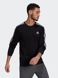 adidas-cut-3-stripe-sweat-topnbsp--blackwhite