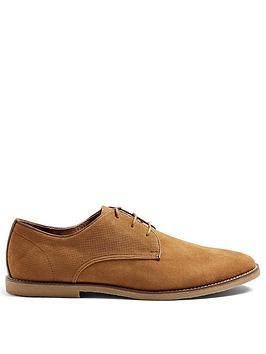 topman-faux-suede-derby-shoes-tan