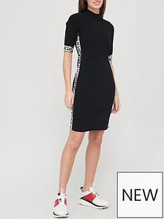 hugo-turtle-neck-dress-blacknbsp