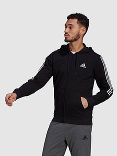 adidas-adidas-cut-3-stripe-full-zip-hoody-blackwhite