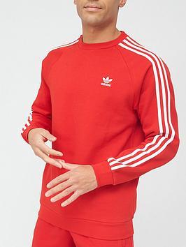 adidas-originals-3-stripes-crew-sweat-red