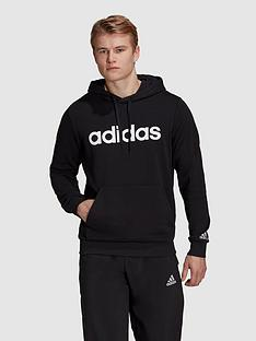 adidas-linear-logo-hoodie-black