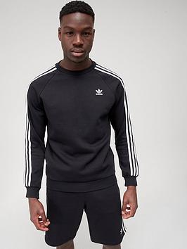 adidas-originals-3-stripes-crew-neck-sweat-top-black