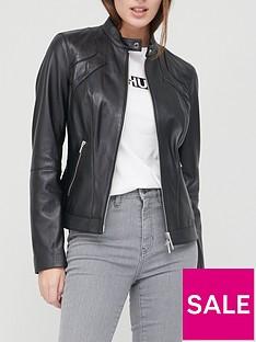 hugo-leather-jacket-blacknbsp