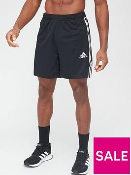 adidas-3-stripe-shorts-blackwhite