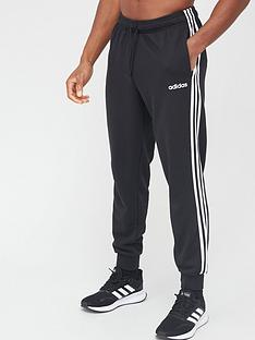 adidas-essentials-3-stripe-pants-black