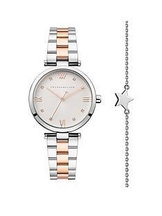 amanda-walker-amanda-walker-eva-silver-and-rose-gold-crystal-set-dial-two-tone-stainless-steel-bracelet-ladies-watch-and-star-bracelet-gift-set