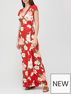 v-by-very-short-sleeve-wrap-jersey-maxi-dress-red-floral