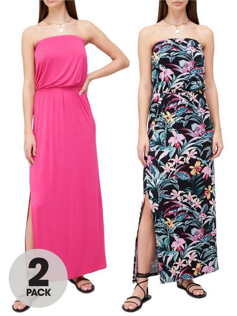 v-by-very-bandeau-maxi-dress-2-pack-tropical-printpinknbsp