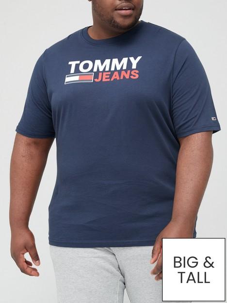 tommy-jeans-big-amp-tallnbspcorporatenbsplogo-t-shirt-navy