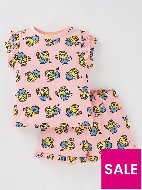 minions-girls-minions-sweet-dreams-shorty-pjs-pink