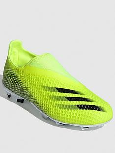 adidas-junior-x-laceless-ghosted3-firm-ground-football-boot-yellow