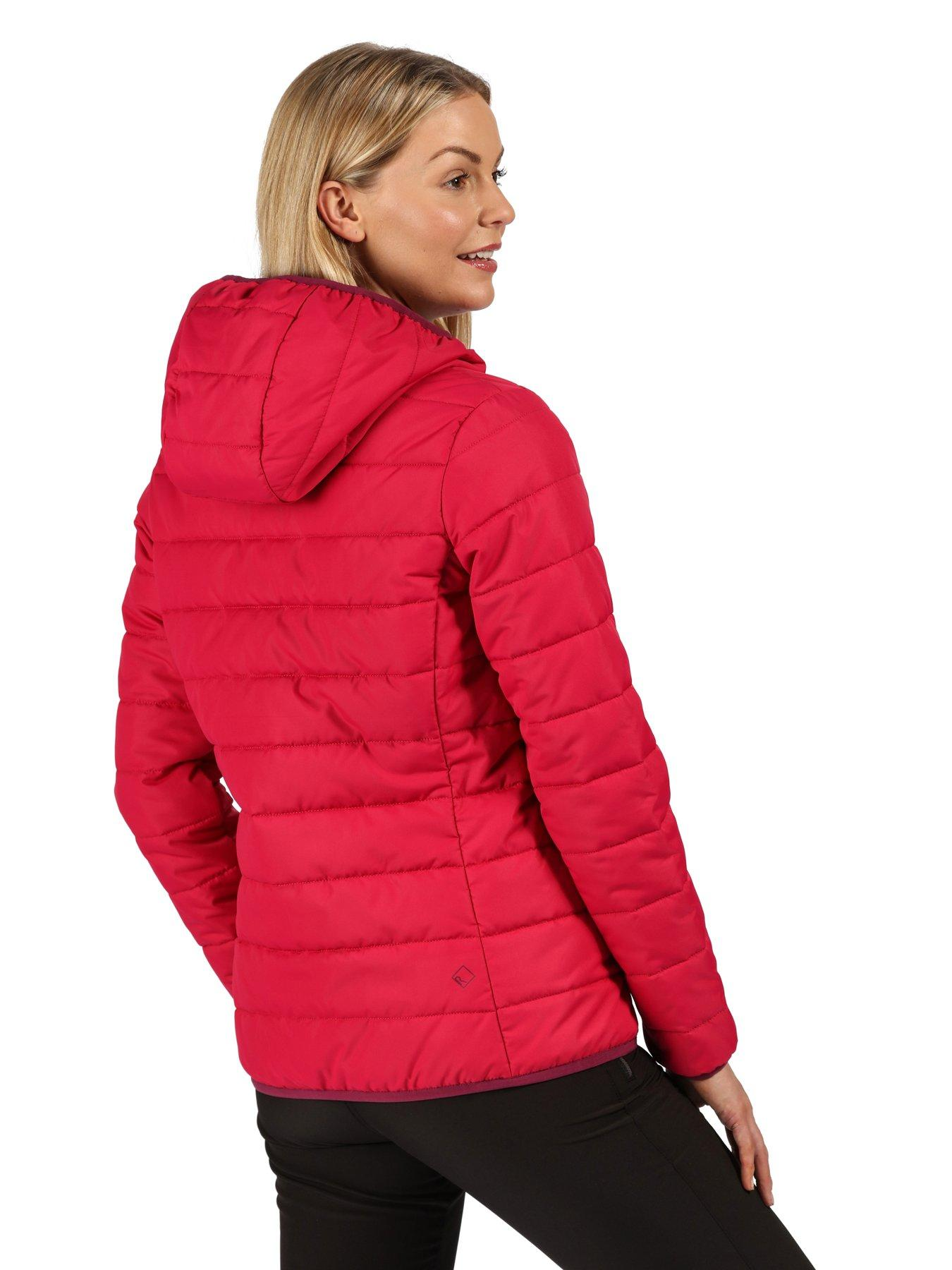 Regatta Womens Helfa Lightweight Insulated Hooded Baffle Quilted Jacket