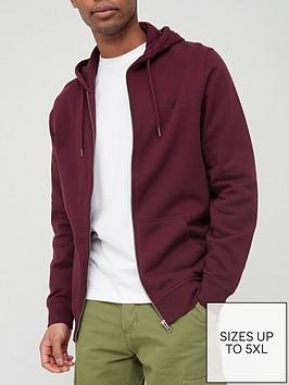 very-man-essential-zipnbsphoodie-burgundynbsp