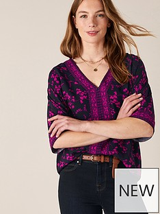 monsoon-v-neck-heritage-print-top