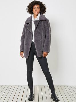 mint-velvet-teddy-aviator-jacket-grey