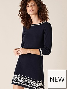 monsoon-cornelli-detail-knitted-dress-navy