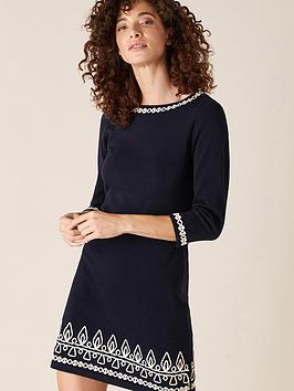 monsoon-cornelli-detail-knitted-dress-navy