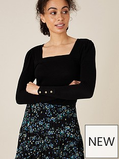 monsoon-sable-square-neck-long-sleeve-top-black