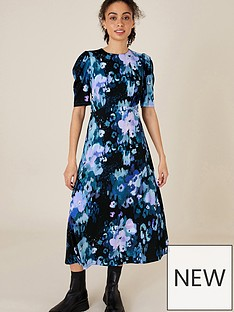 monsoon-mason-blurred-floral-print-midi-dress-blue