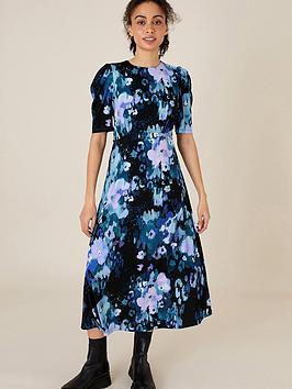 monsoon-mason-blurred-floral-print-midi-dress-blue