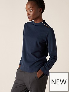 monsoon-hatty-high-neck-button-lounge-top-navy