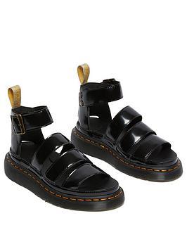 Dr Martens Vegan Clarissa Ii Flat Sandal - Black, Black, Size 7, Women
