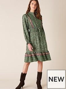 monsoon-green-print-short-dress
