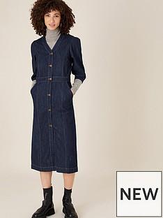 monsoon-midi-v-neck-denim-dress-indigo