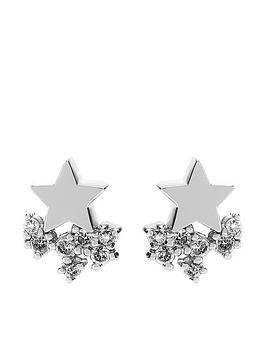 mint-velvet-star-cluster-earrings-silver