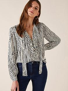 monsoon-spot-print-blouse-ivory