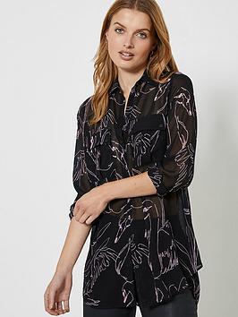 mint-velvet-swan-print-longline-shirt-black