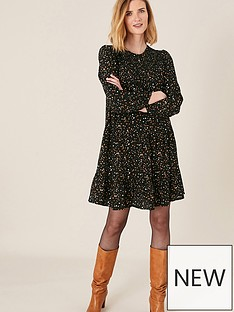 monsoon-spot-print-tiered-dress