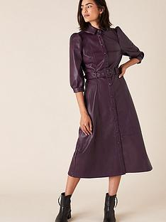 monsoon-recycled-pu-midi-dress-plum