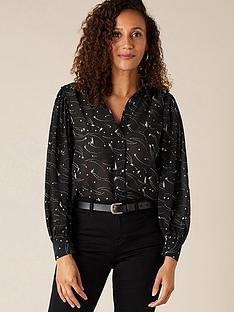 monsoon-printed-lurex-embroidery-shirt-black