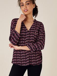 monsoon-ziggy-geo-woven-front-blouse-pink